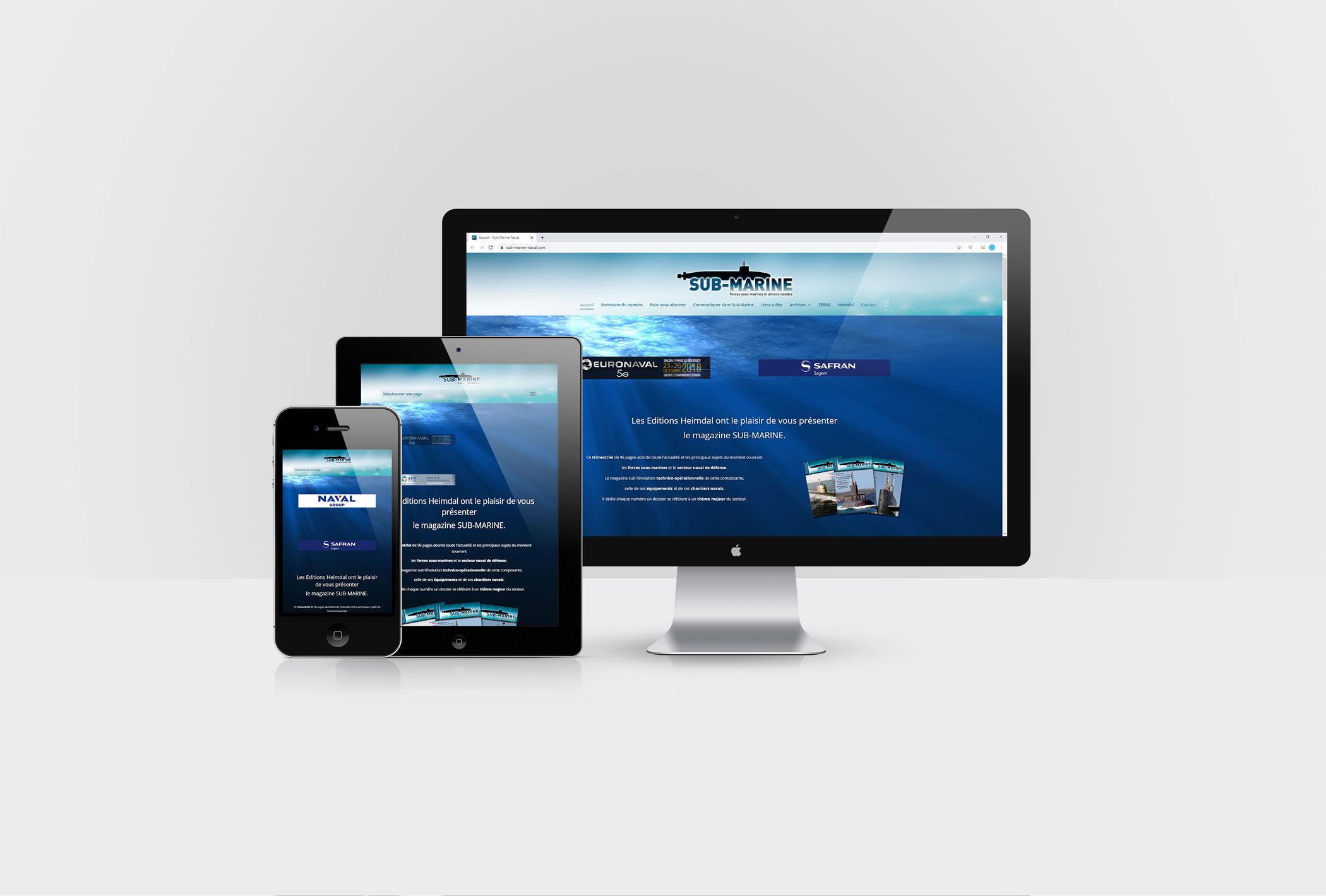 Sub-Marine Magazine création site internet forfait mise à jour