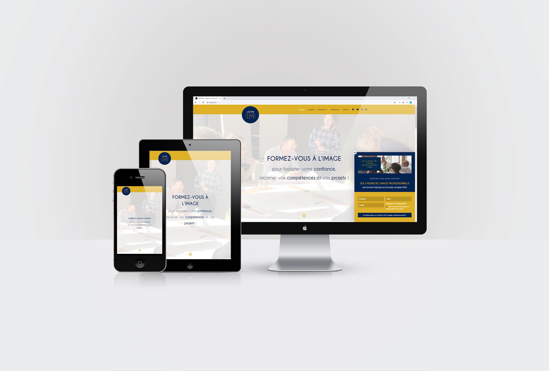 Création d'un site internet sous WordPress pour Learnim