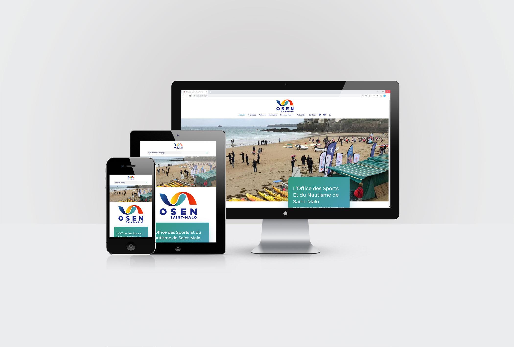 Formation des bénévoles de l'association OSEN Saint-Malo à la mise à jour du site internet