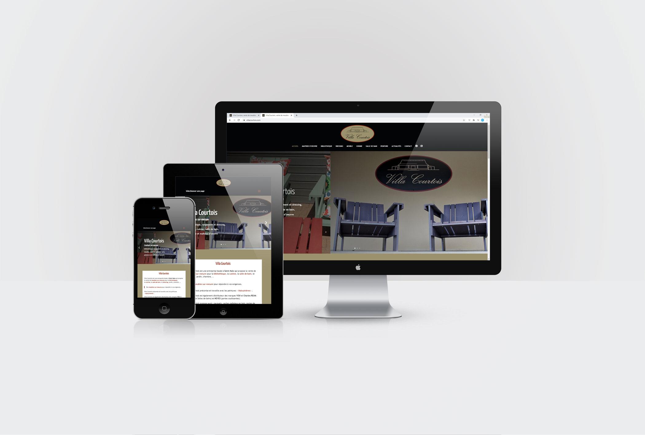 Site internet de Villa Courtois à Saint-Malo