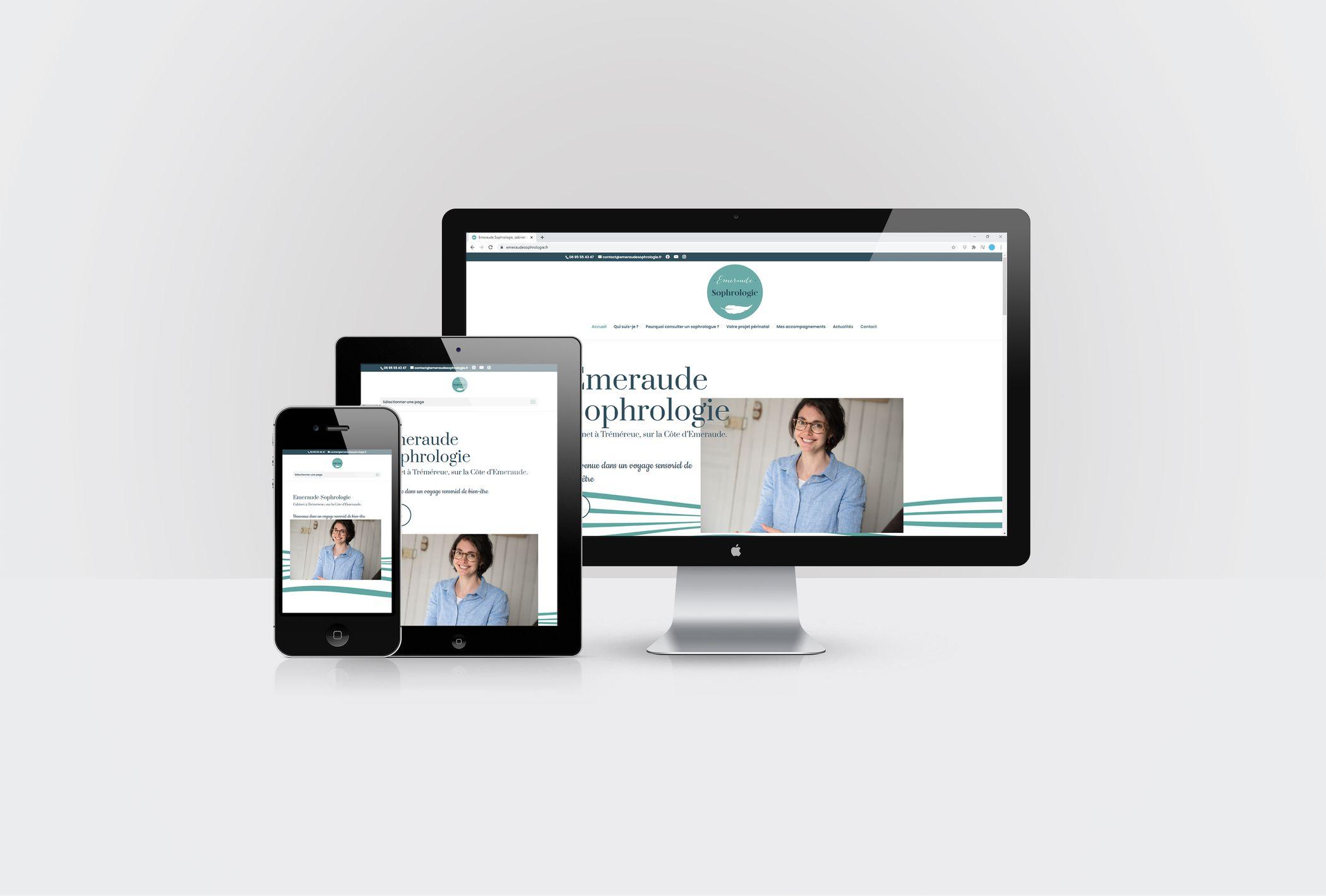 Création site internet d'Emeraude Sophrologie par CréaPAGES