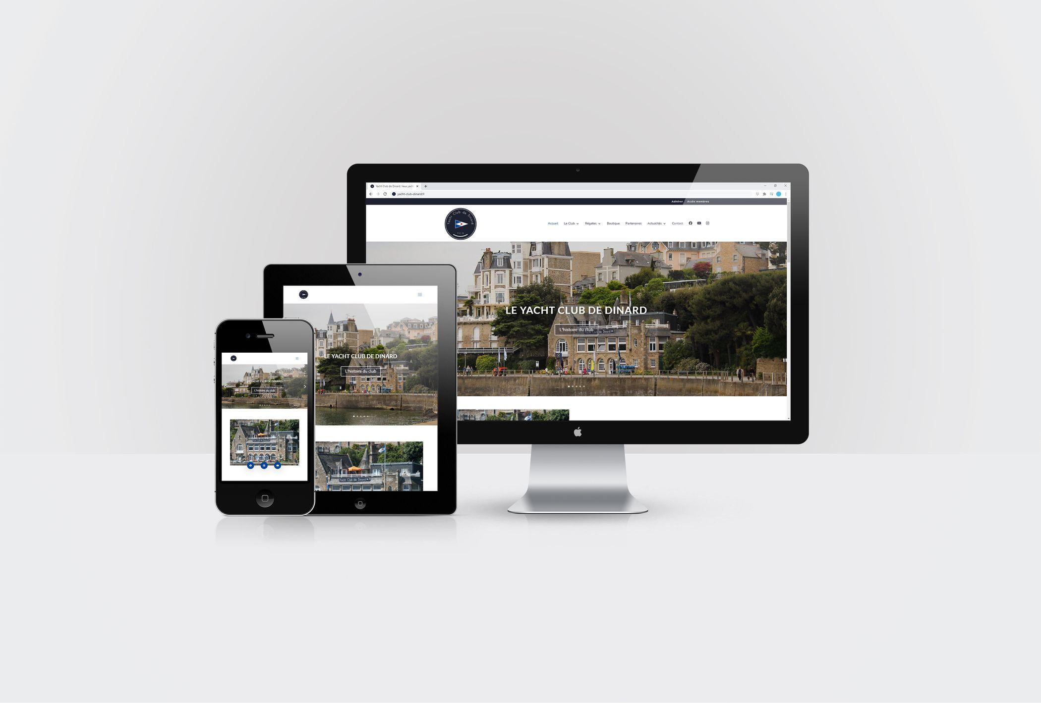 Formation animer son site internet WordPress avec DIVI pour le Yacht Club de Dinard par CréaPAGES