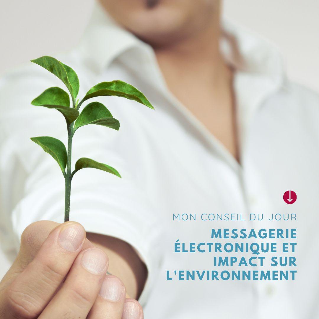 Messagerie électronique et impact sur l'environnement par CréaPAGES