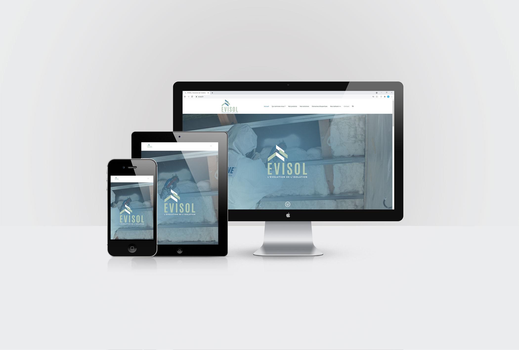 Création du site internet d'EVISOL sous WordPress par CréaPAGES